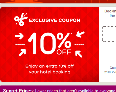 10% hotels.com coupon