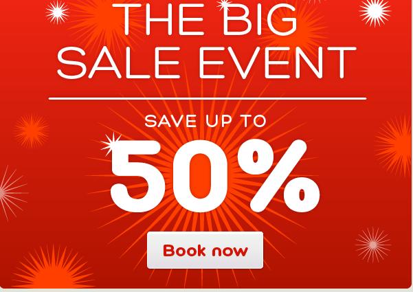 50% hotels.com sale