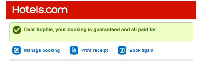 hotels.com booking guaranteed