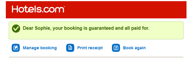 hotels.com booking guaranteed