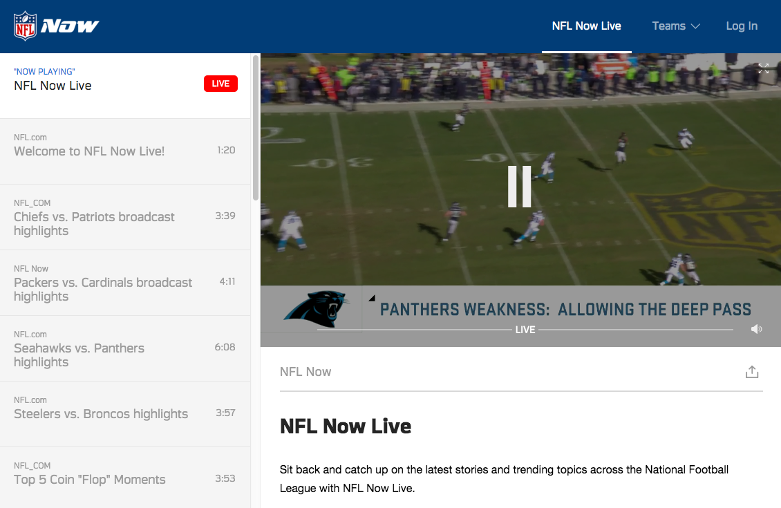 nfl video on site