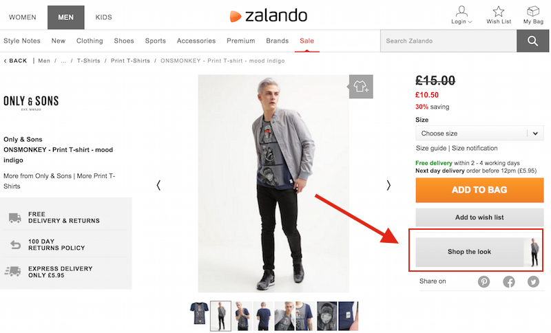zalando product page