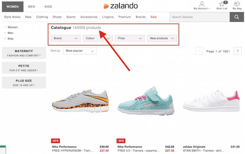zalando catalog