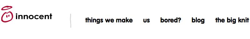 Innocent tone of voice website copy