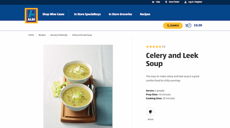 recipes aldi