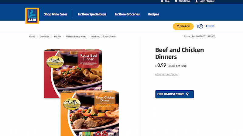 aldi product page