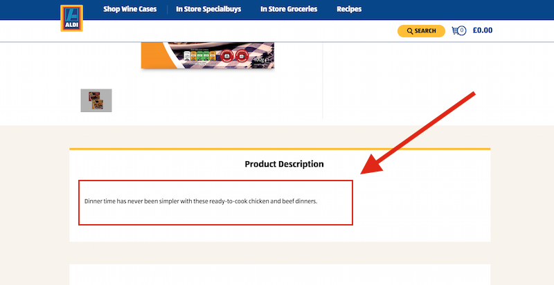 product description aldi