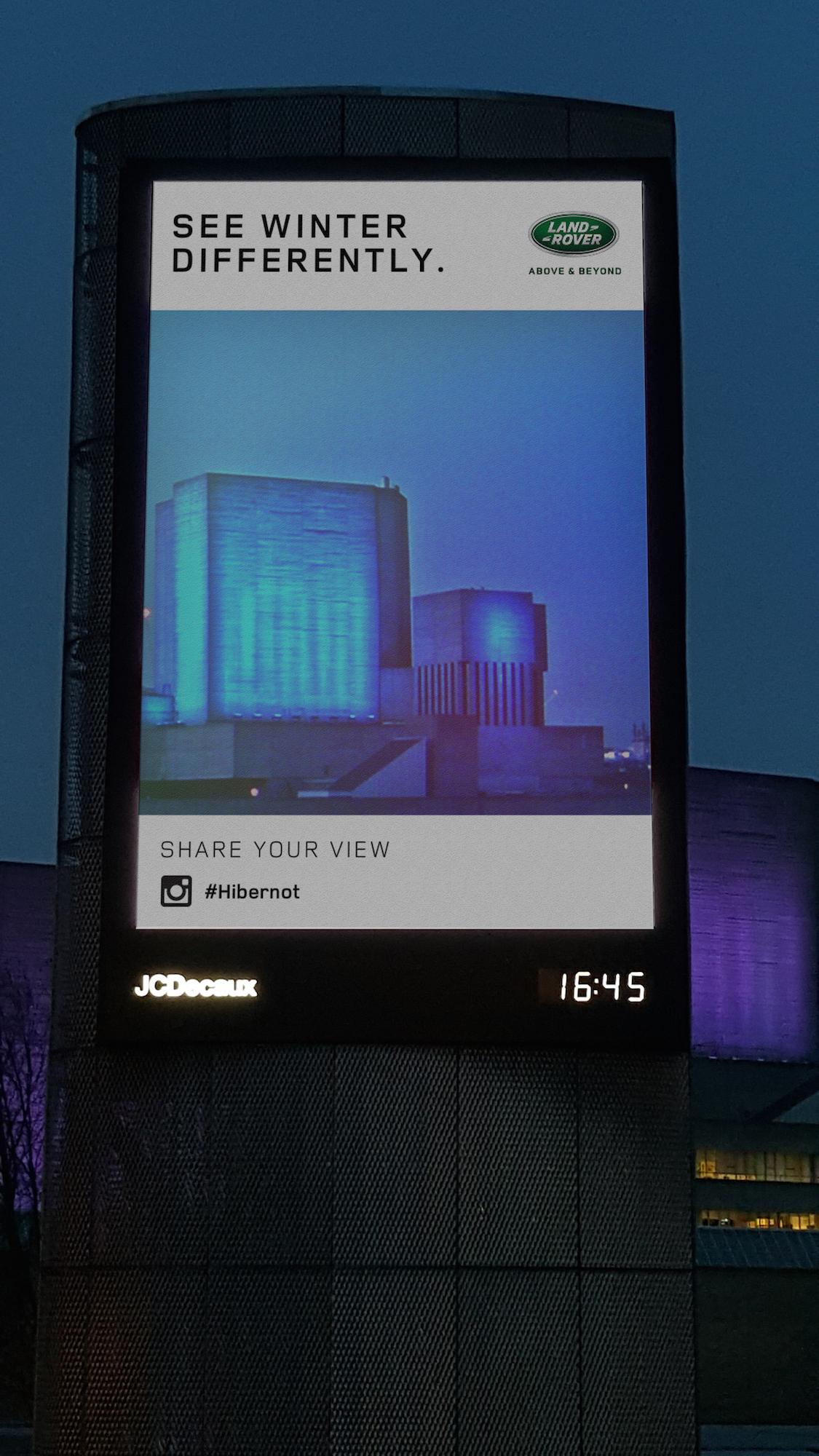 land rover ooh instagram filter billboards