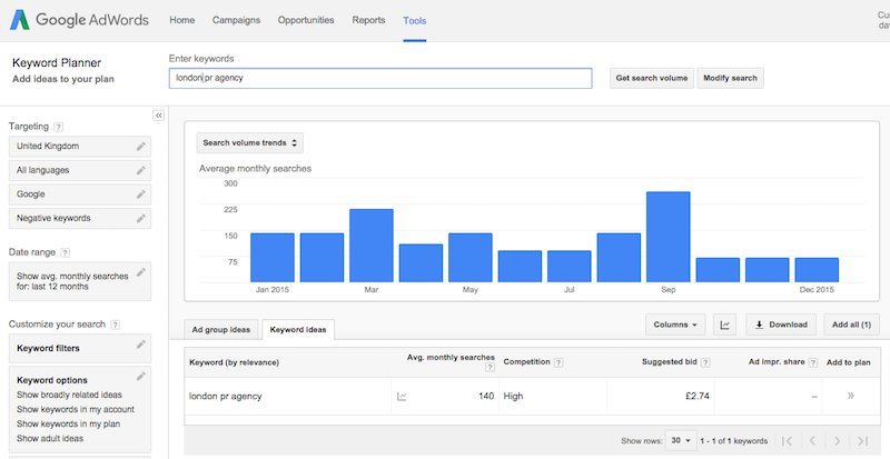 how to find top search terms on google