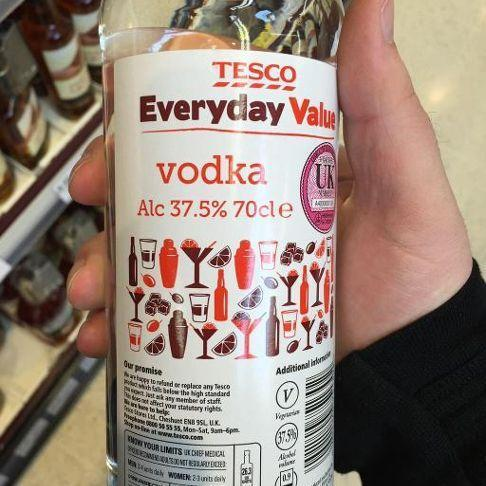 Tesco value vodka