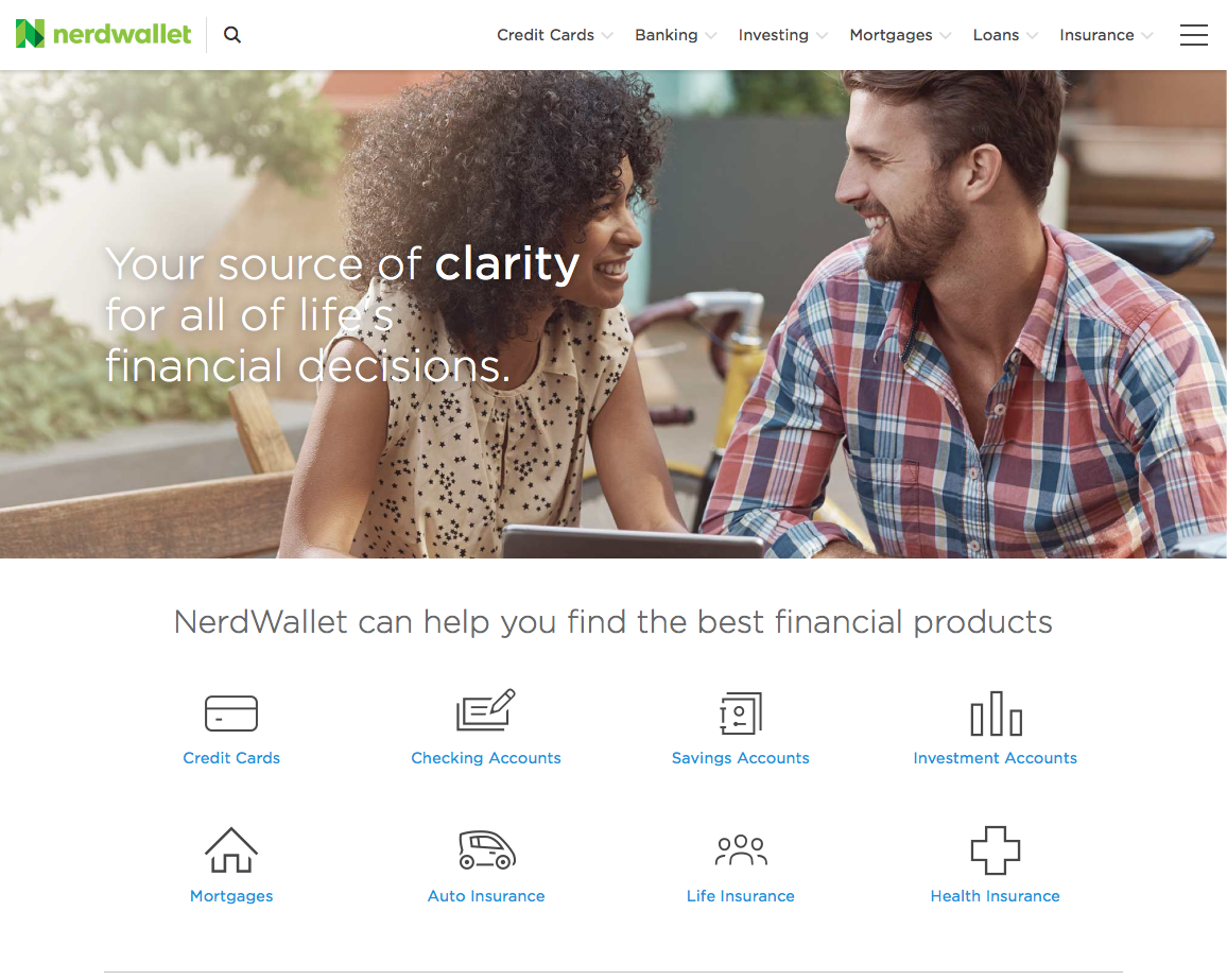 nerdwallet home page