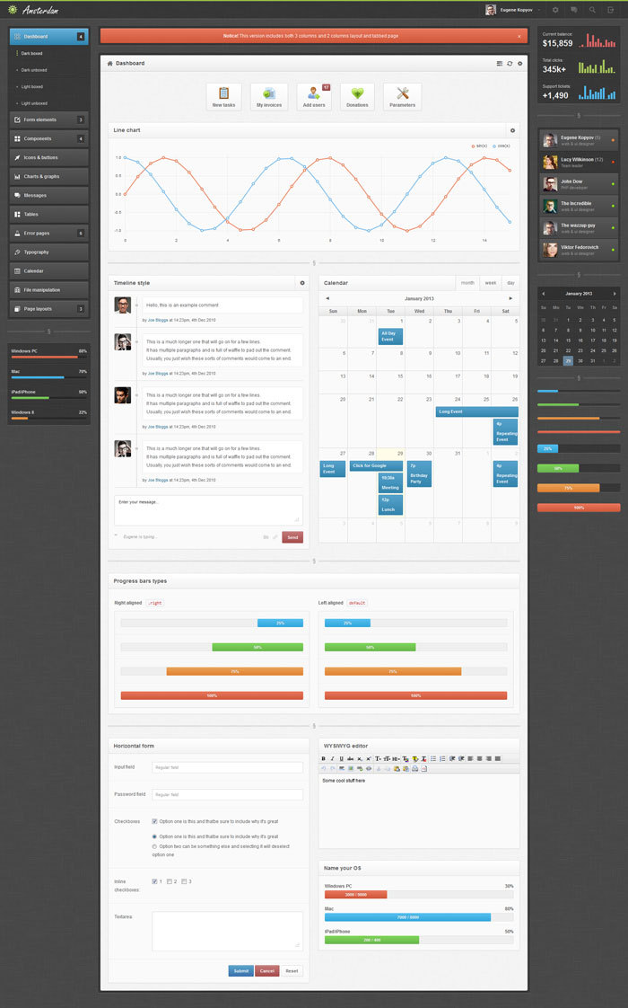 dashboard design inspiration