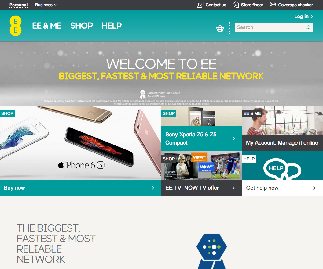 ee home page