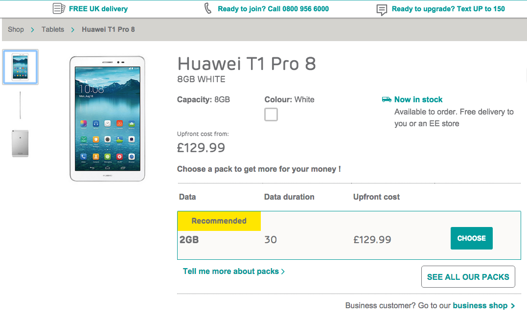 ee product page