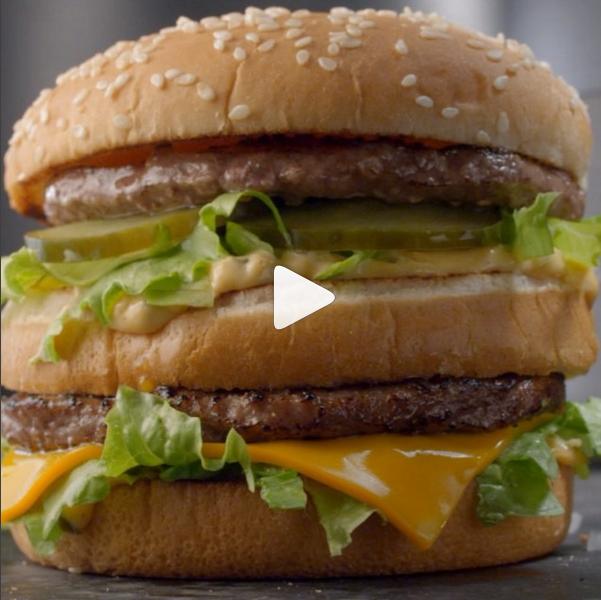 Mcdonald's branded instagram video