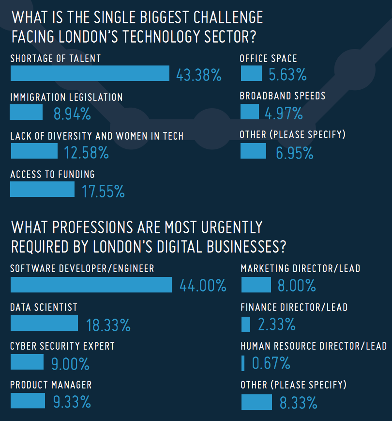 survey of challenges to tech sector