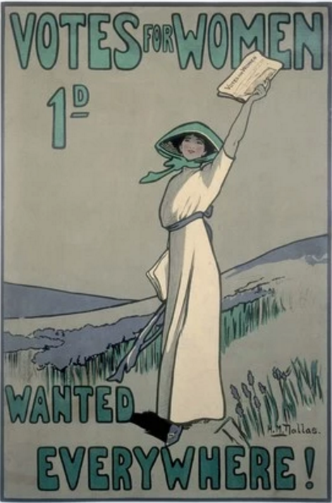 Votes for Women suffragettes poster 1909