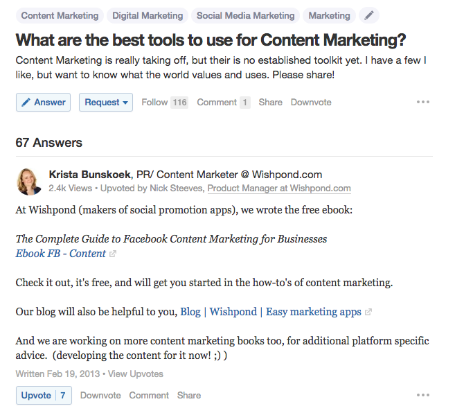 Quora for influencer marketing research