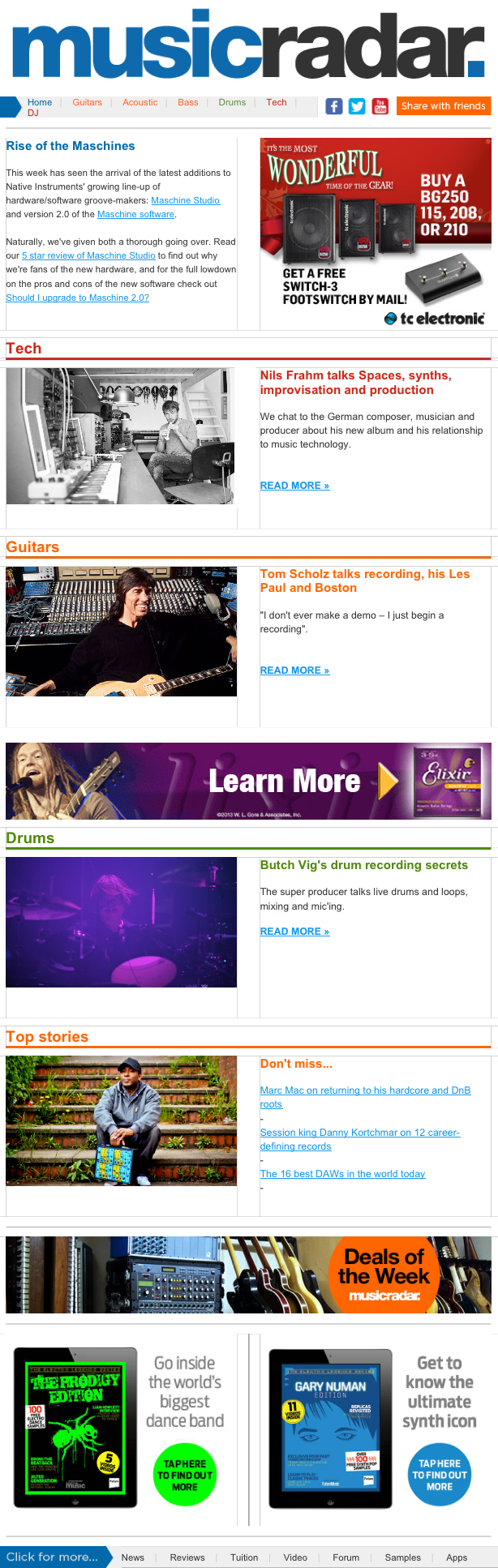 MusicRadar Newsletter