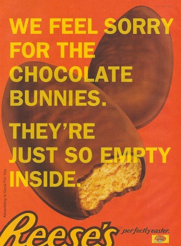 Reese's chocolate bunnies ad campaign