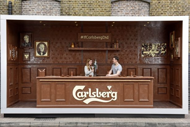 Carlsberg pop-up chocolate bar