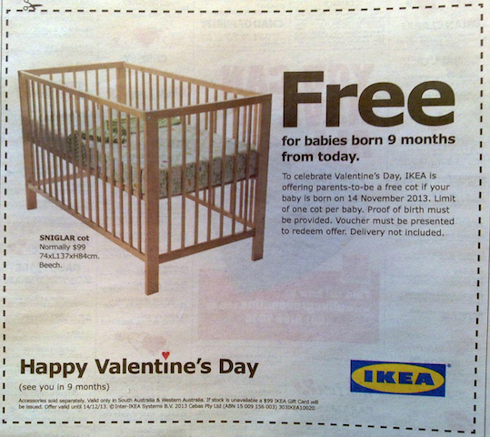 free cot ad