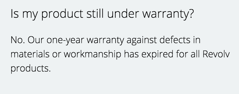 revolv warranty