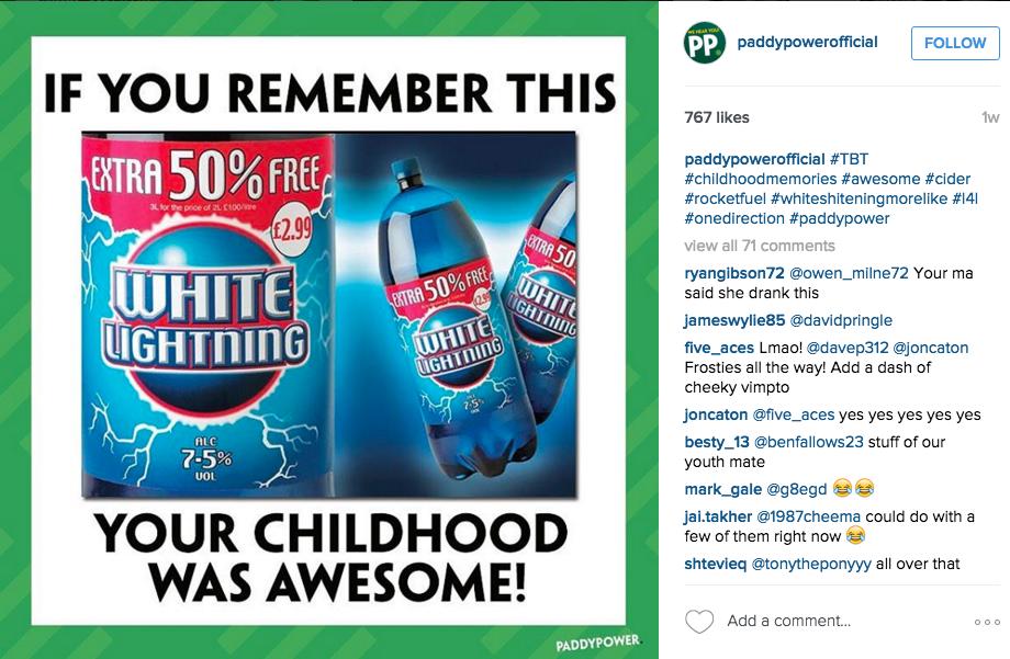 Paddy Power instagram