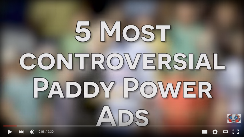 Paddy Power banned ads YouTube