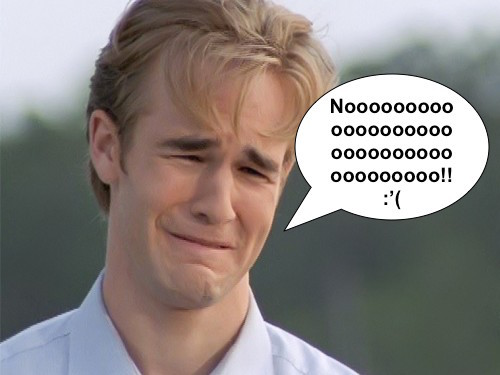 Dawson's Creek sad face