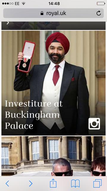instagram on royals.uk
