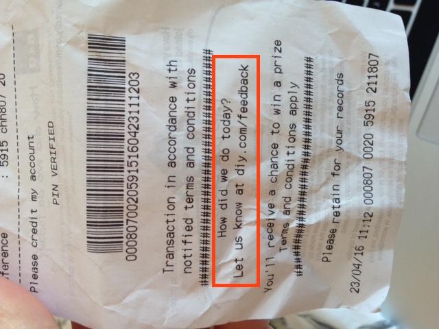b&q receipt