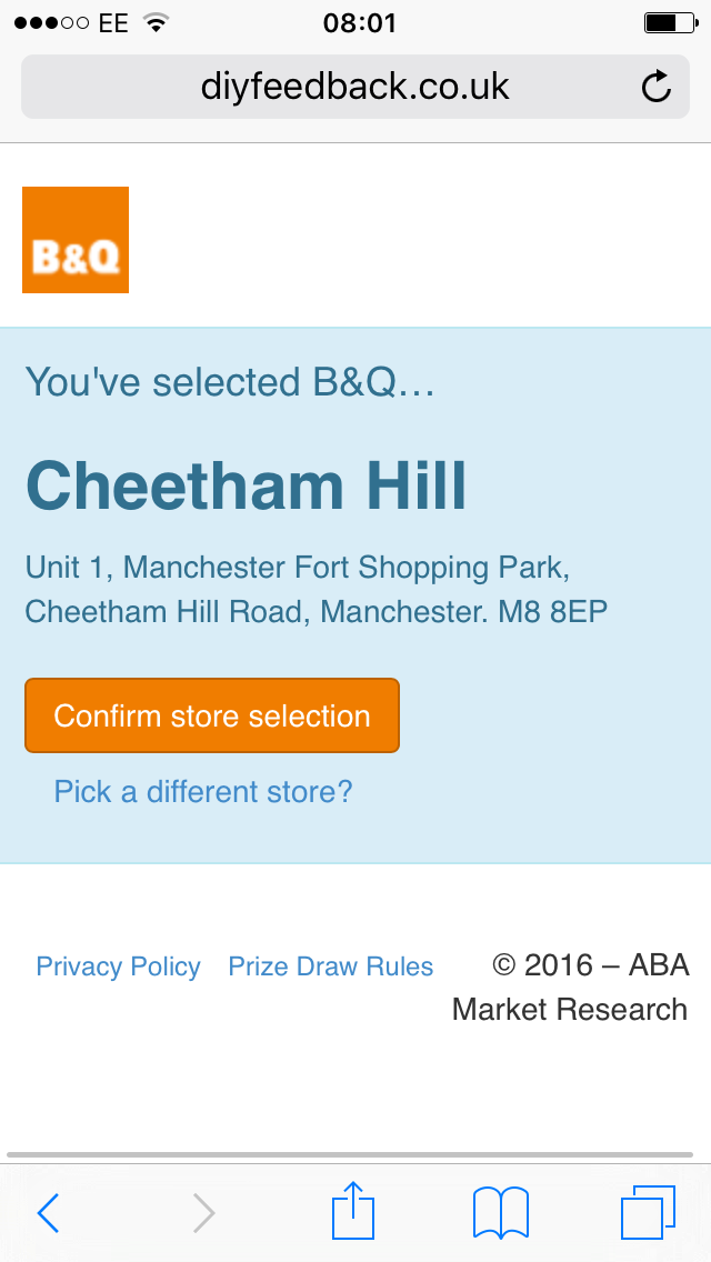 Giving B&Q customer feedback: the one time I wished for a QR code