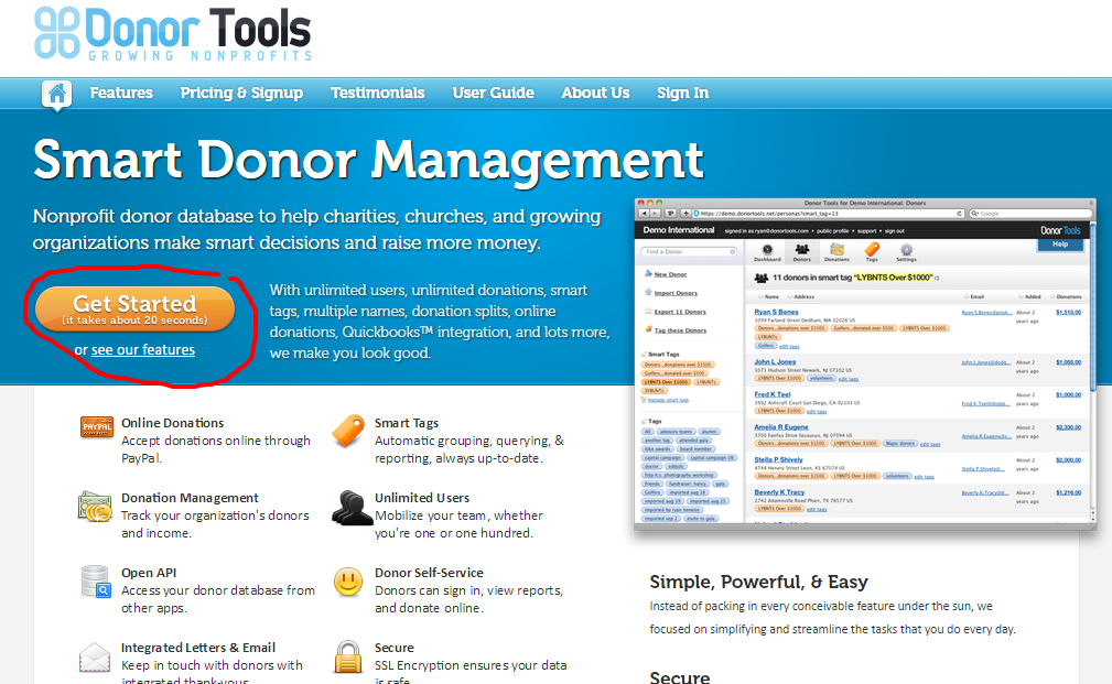 Donor Tools