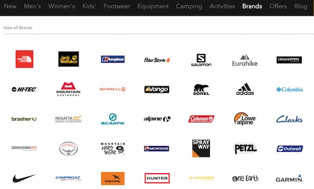 brands menu blacks