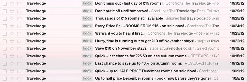 Travelodge Emails