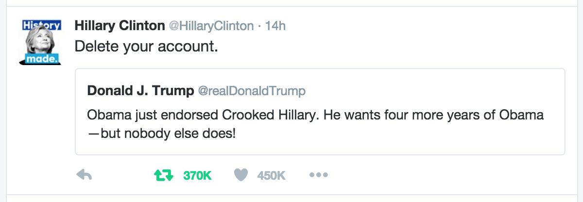 hillary tweet