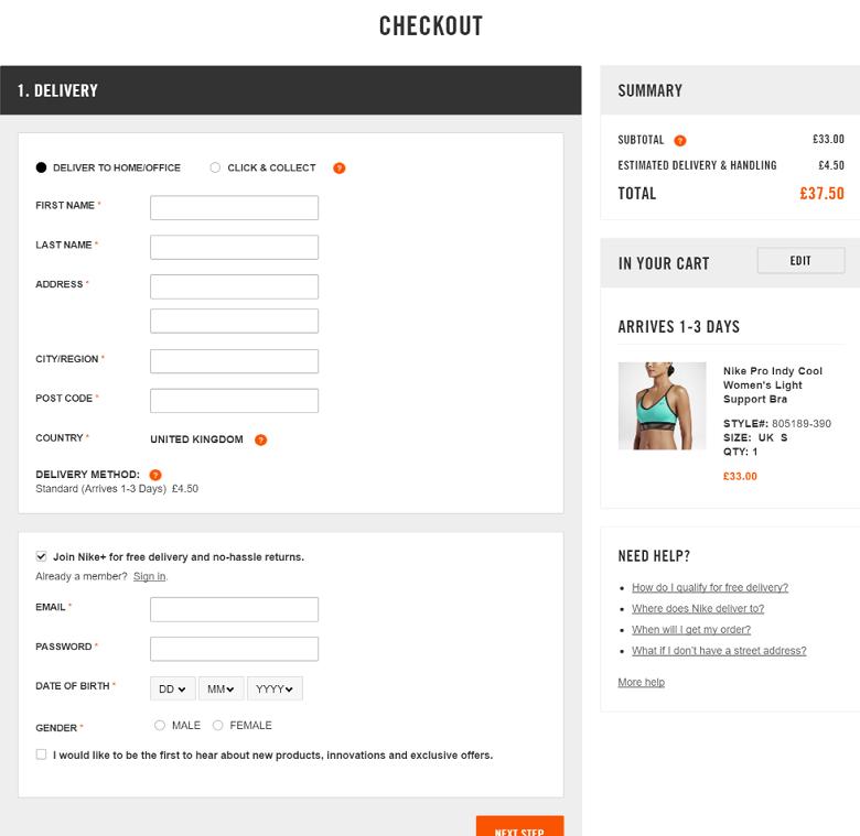 Site comparison: Victoria's Secret vs  Nike Women, the
