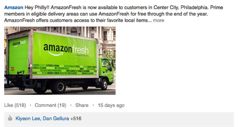 amazon fresh linkedin update