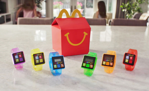 mcdonald's pedometer happy meals