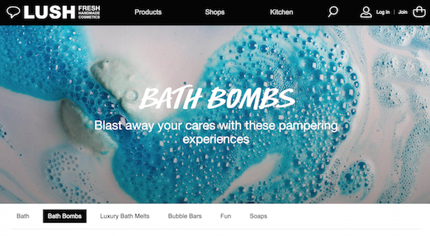 lush category page