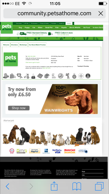 pets at home store locator