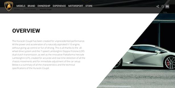 lamborghini website