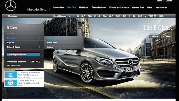 mercedes website
