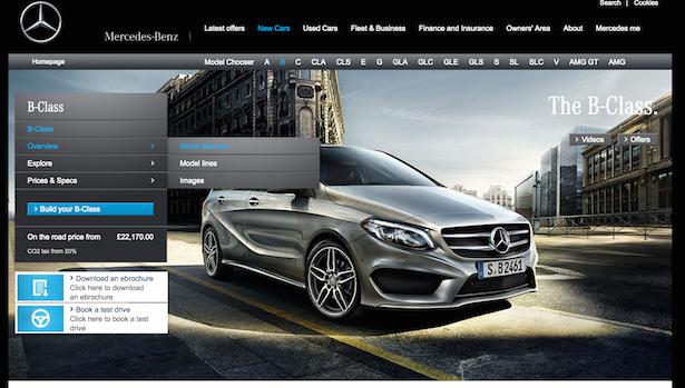 mercedes website