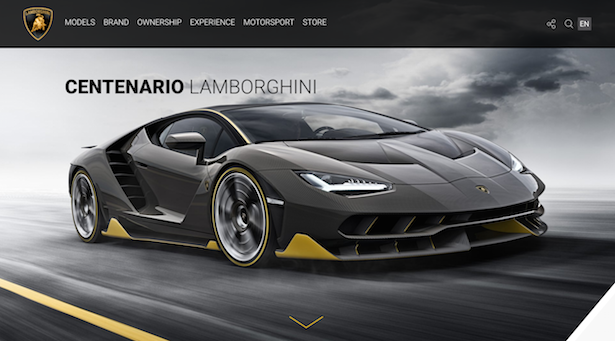 lamborghini product page