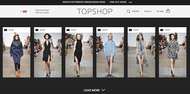 topshop unique
