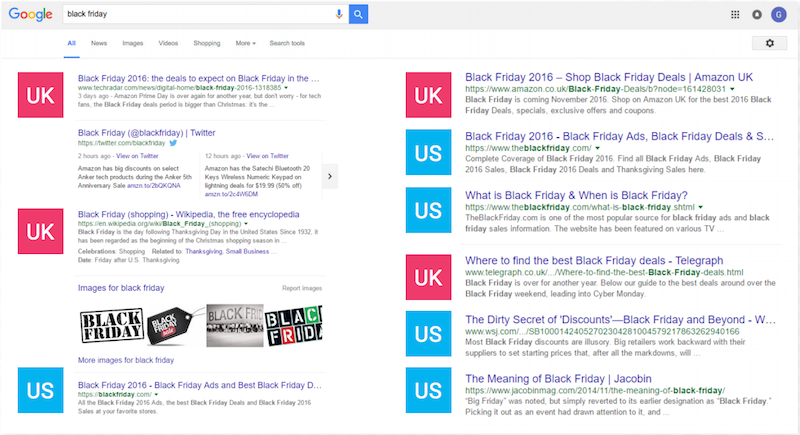 Black Friday 2016: How are UK retailers optimising search landing pages? –  Econsultancy