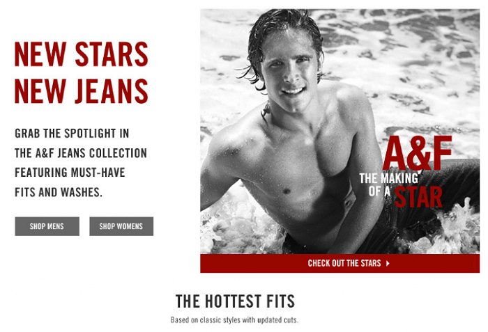 A closer look at the re-brand of Abercrombie & Fitch
