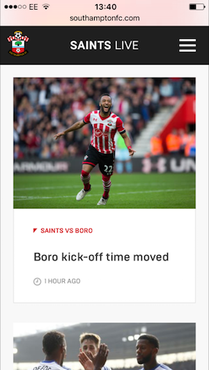 southampton website